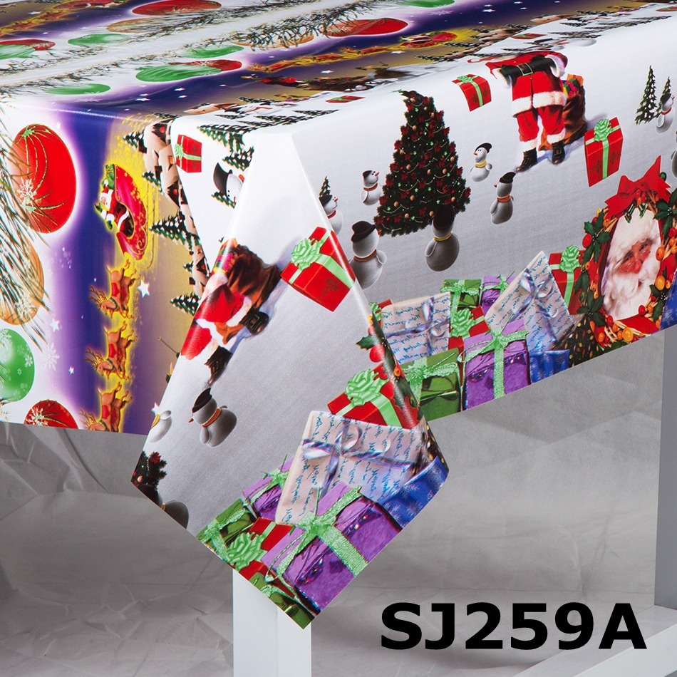 Shuangjie Christmas Coloring Tablecloth Pvc With Latest Designs