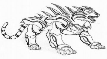Bakugan Leonidas Coloring Pages