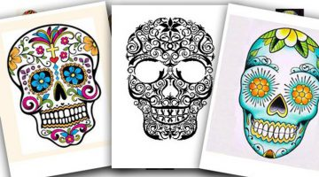 Day Of The Dead Skull Printable