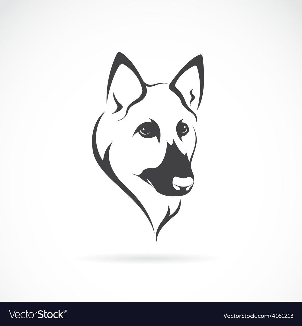 Image Of An German Shepherd Face Royalty Free Vector Image
