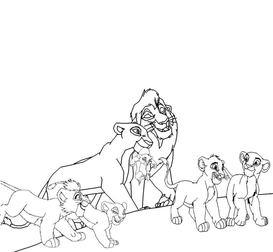 12 Pics Of Lion King Young Kiara With Kovu Coloring Pages