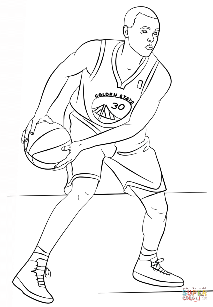 Stephen Curry Coloring Page