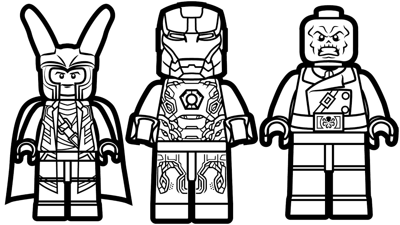 Lego Superhero Coloring Pages – With Darth Vader Also Ninjago Kids