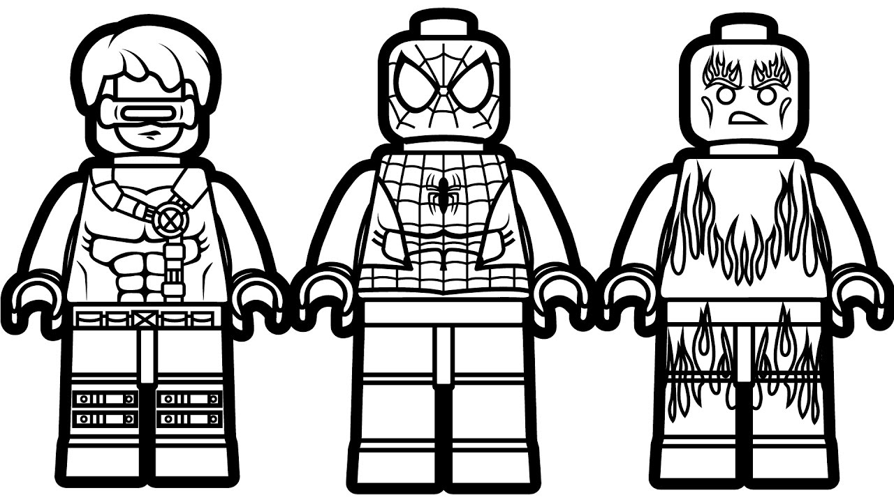 Lego Spiderman Coloring Pages – With Pictures Also To Color Kids