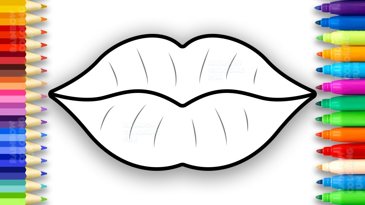 Lips Coloring Page 11  8843