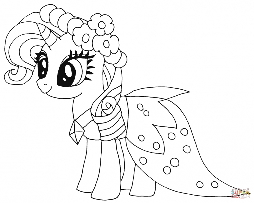 Pony Coloring Pages – With Also Dinosaur Kids (image Number  8322