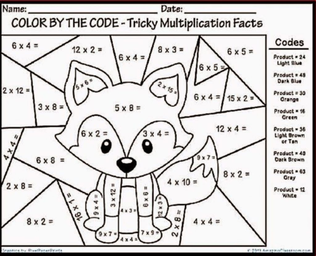 Math Coloring Worksheets 3rd Grade To You