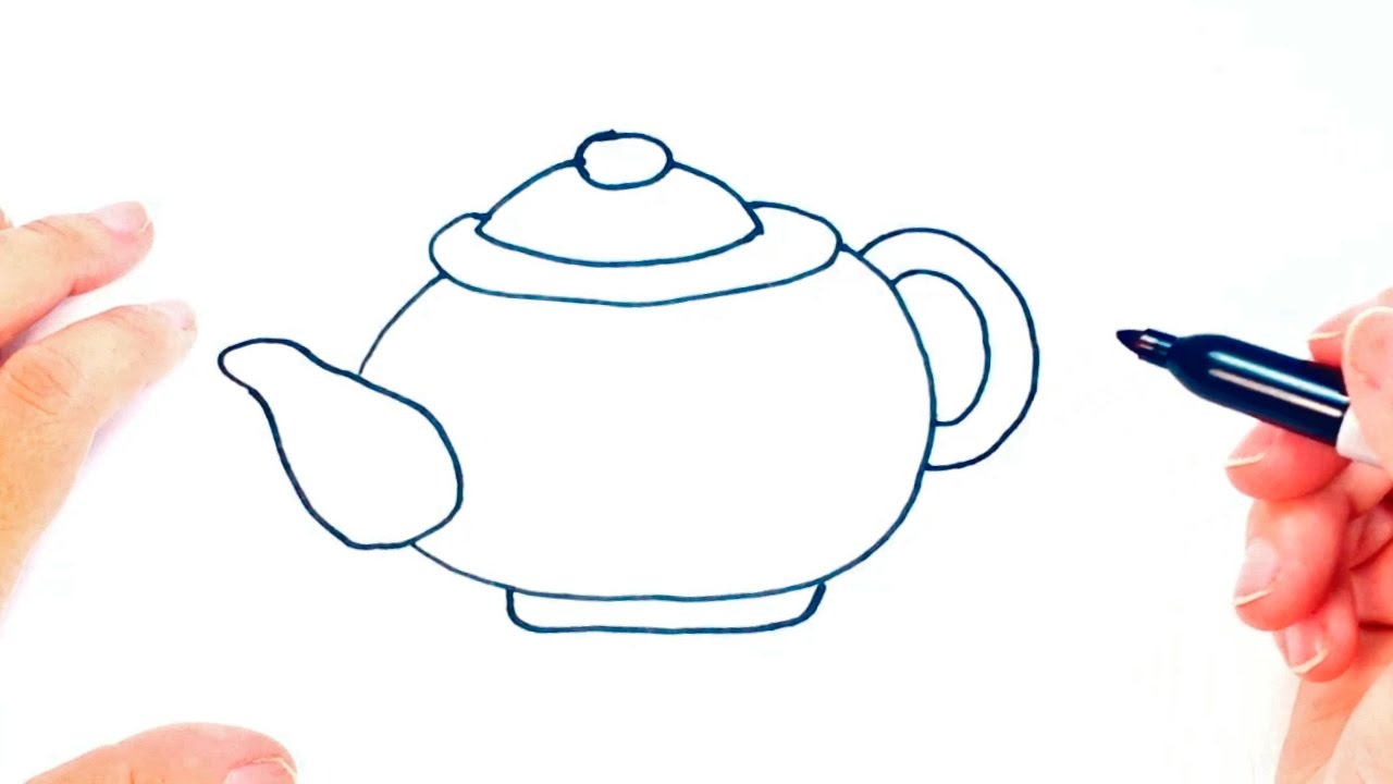 How To Draw A Teapot For Kids
