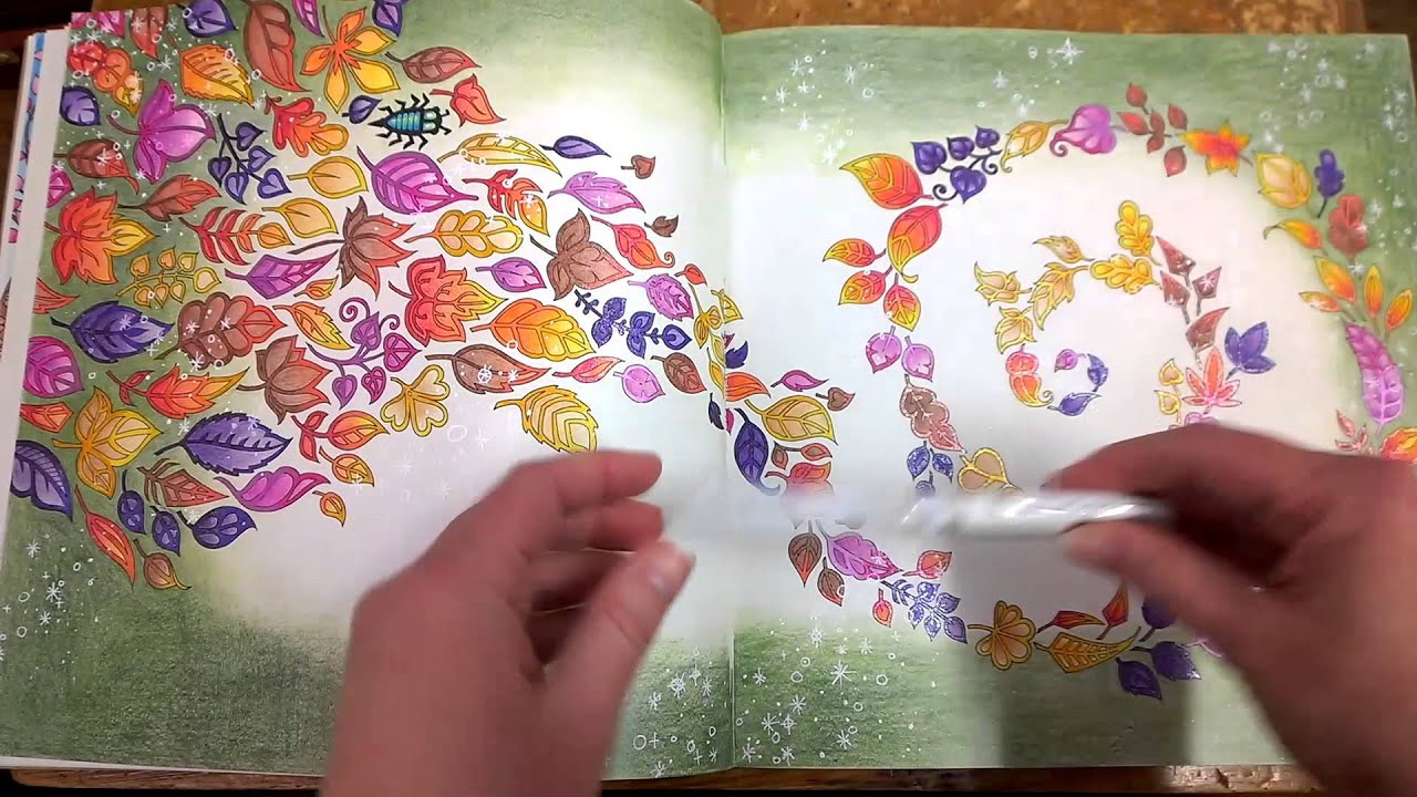 Colouring Book Enchanted Forest Walk Through With Tips And