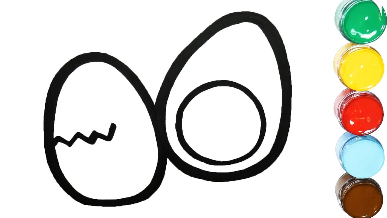Learn Colors And How To Draw By Coloring Boiled Egg