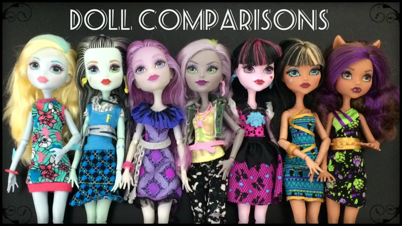 Welcome To Monster High Dolls & Reboot Doll Comparisons