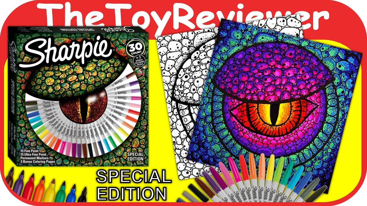 Sharpie 30 Permanent Markers Special Edition 3 Coloring Pages