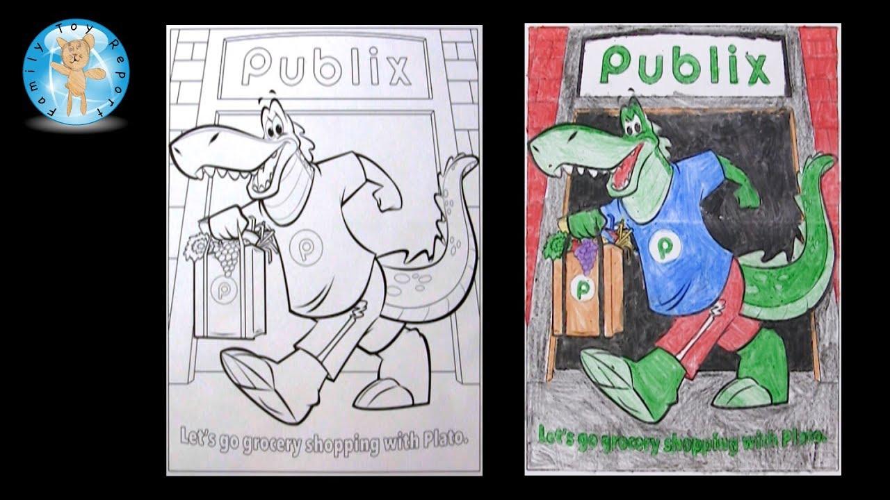 Publix Plato The Publixaurus Coloring Page Crayola Crayons