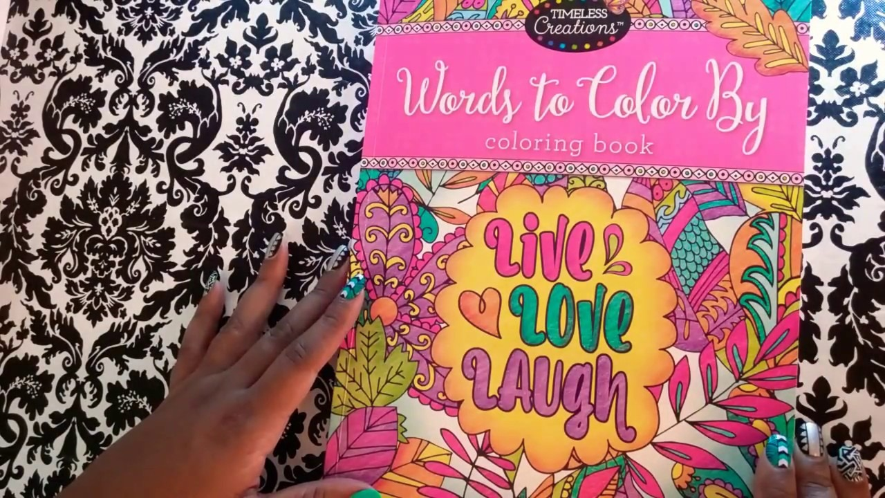 Words To Color By Timeless Creations Flip Through