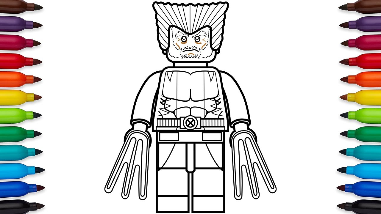 How To Draw Lego Wolverine