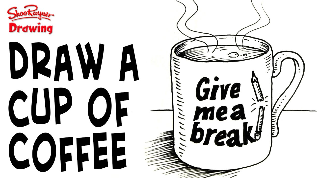 How To Draw A Mug Of Coffee