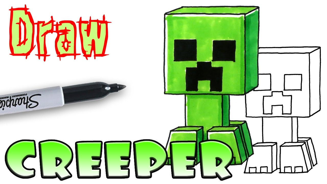 How To Draw The Creeper