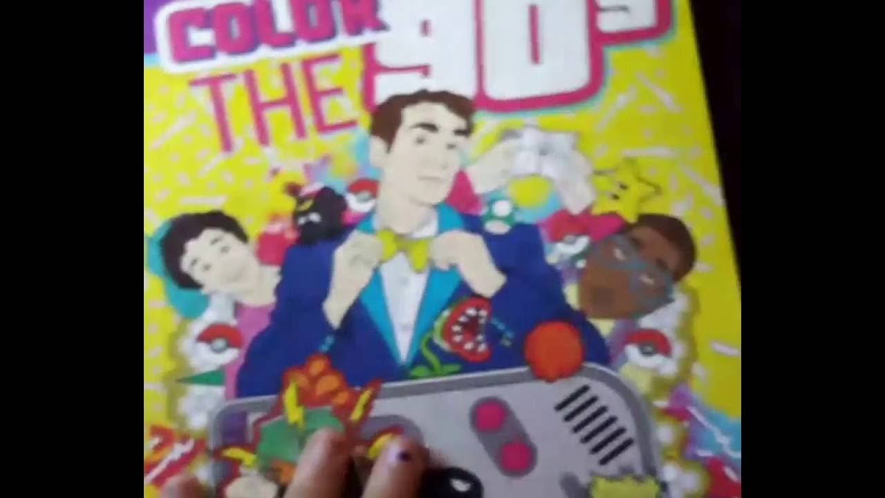 Lets Take A Peek  Adult Coloring Books  Color The 90's  The