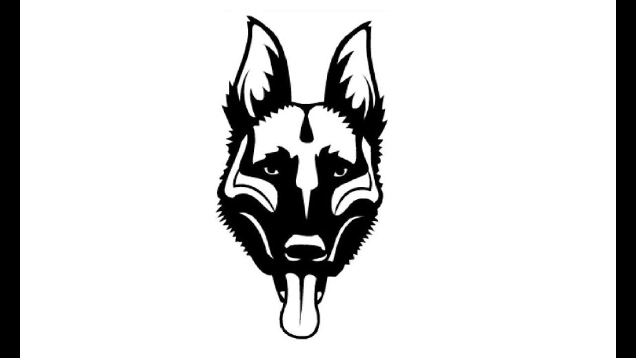 How To Draw A Face Of A German Shepherd   Как нарисовать лицо