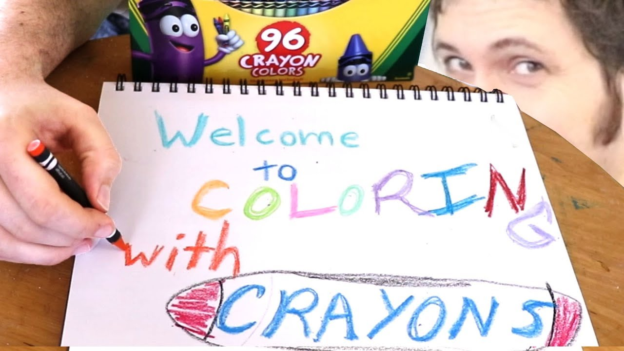 Coloring With Crayons! (w  Tobuscus)
