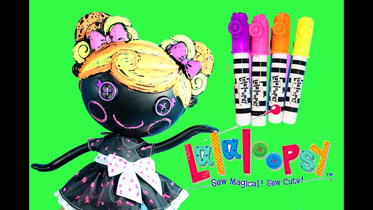 Lalaloopsy Color Me Doll Nick Jr  Paint Draw Stamp Coloring