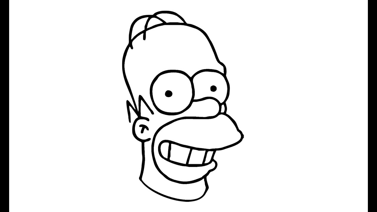 How To Draw Homer Simpson From The Simpsons