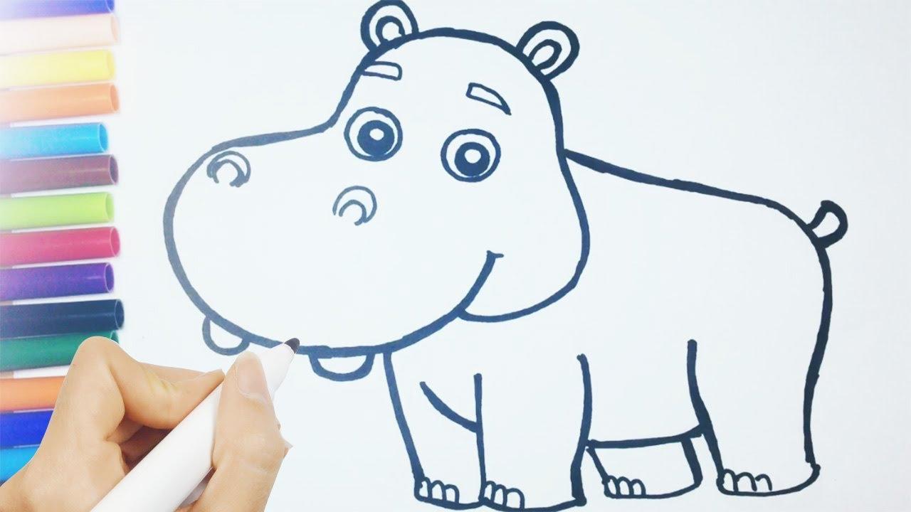 Como Desenhar Um Hipopótamo Passo A Passo