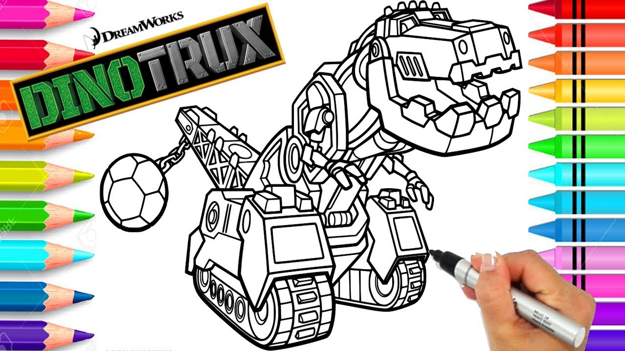 Ty Dinotrux Coloring Page