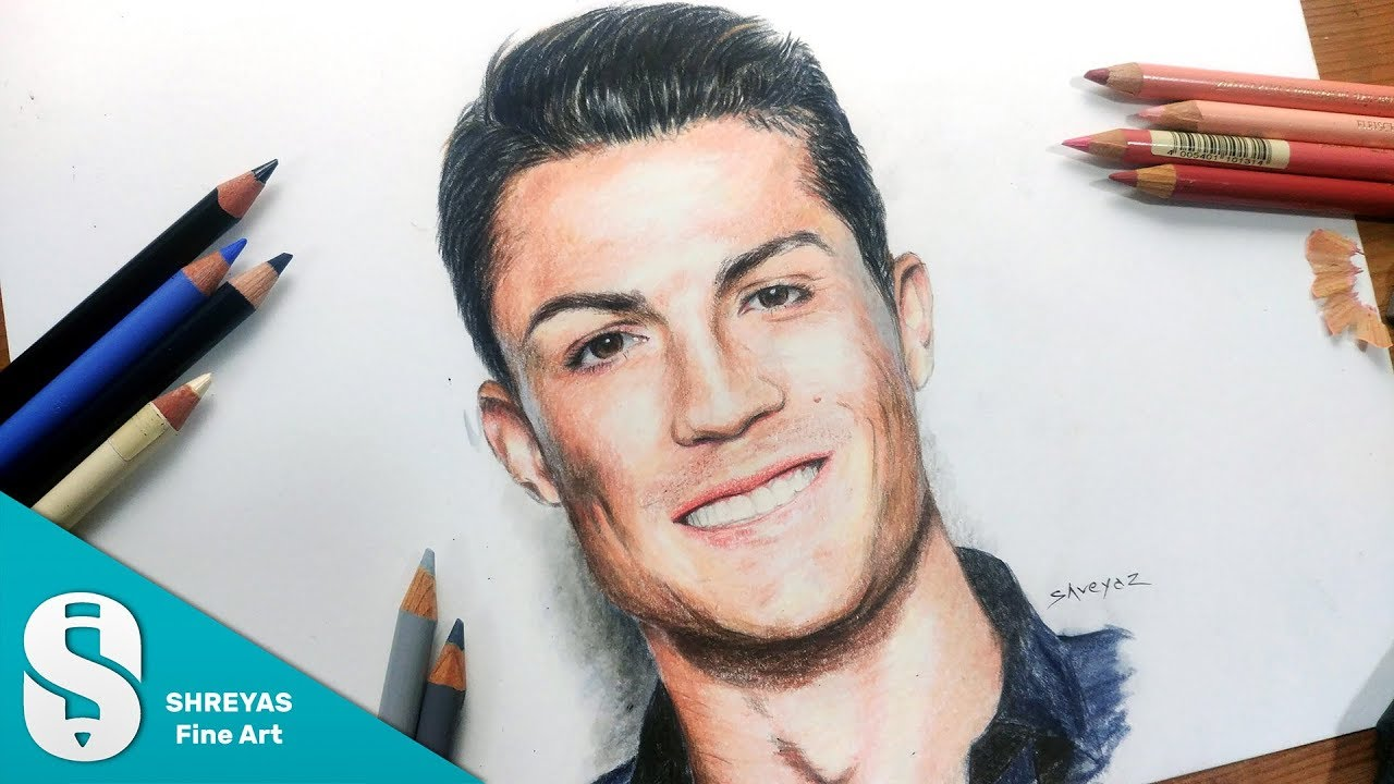 Speed Drawing  Cristiano Ronaldo (cr7)