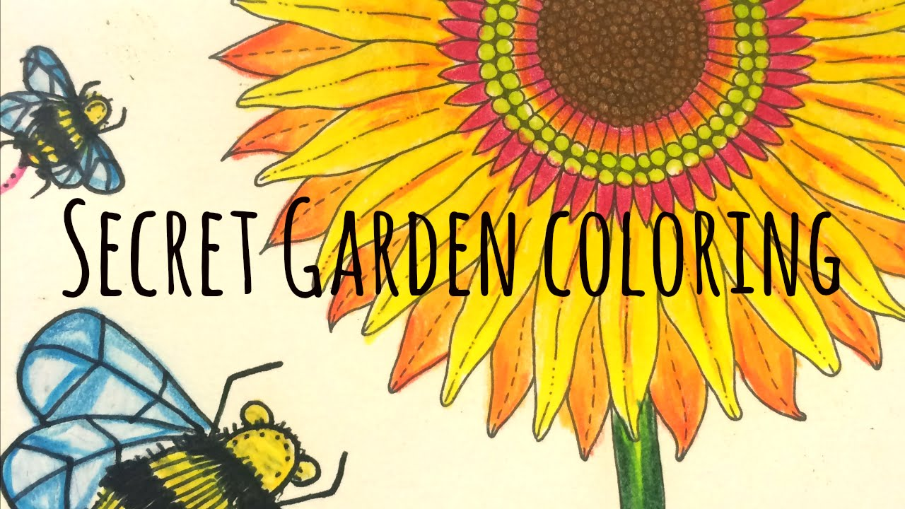How To Color  Secret Garden Coloring Book