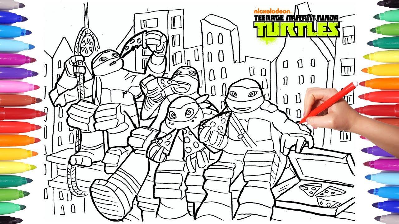 Teenage Mutant Ninja Turtles Tmnt Coloring Pages 2