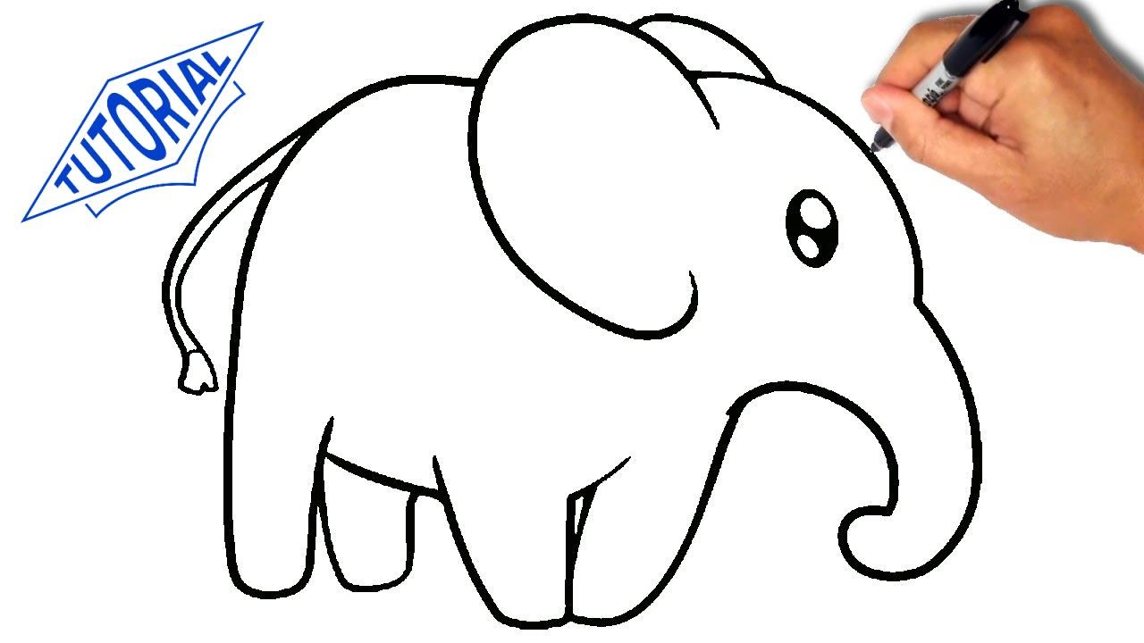 How To Draw An Elephant For Kids [simple]