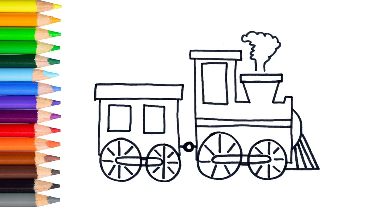 Learn How To Draw Easy Train