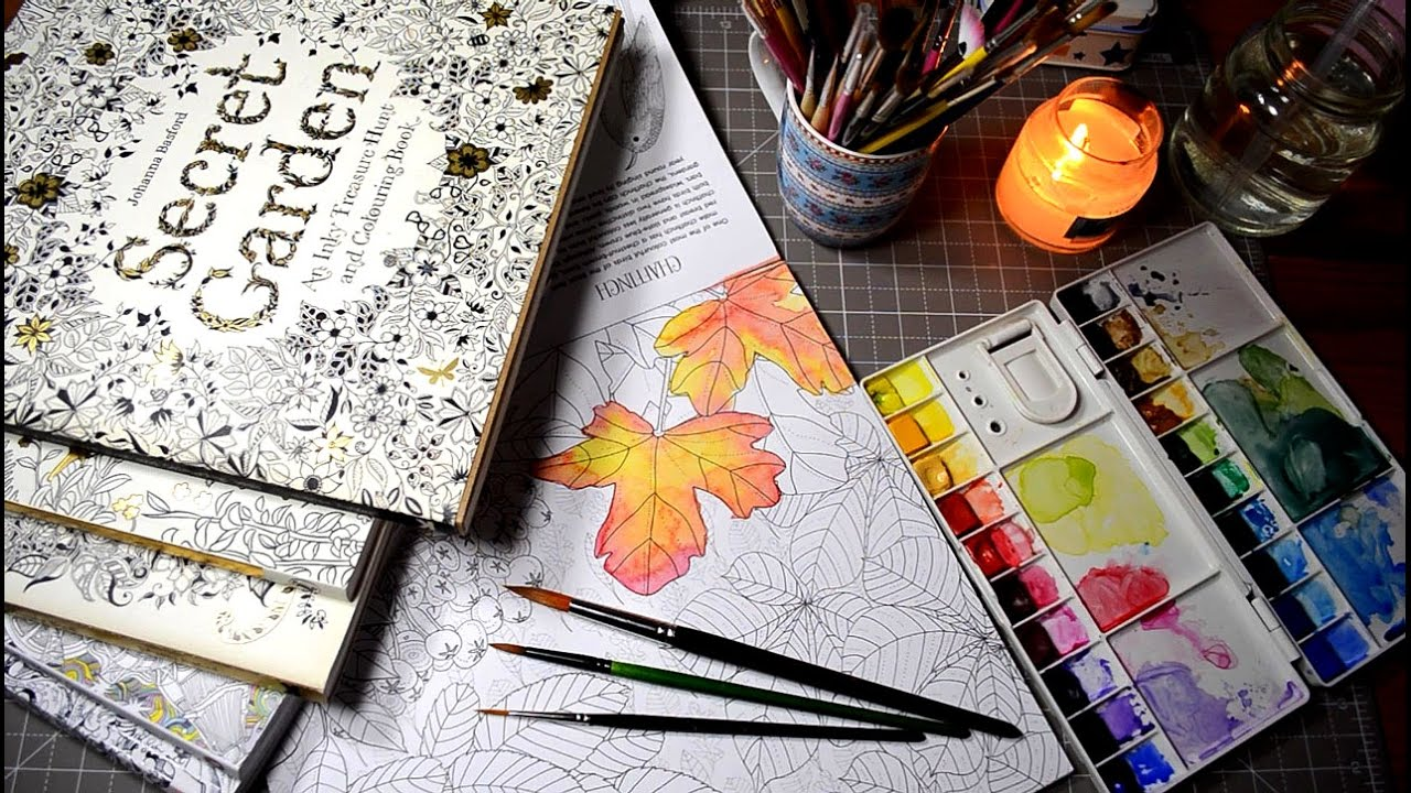 Testing Watercolors In Coloring Books