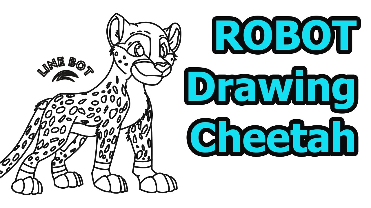 How To Draw A Cheetah Quick & Easy (drawing & Cartoon For Kids