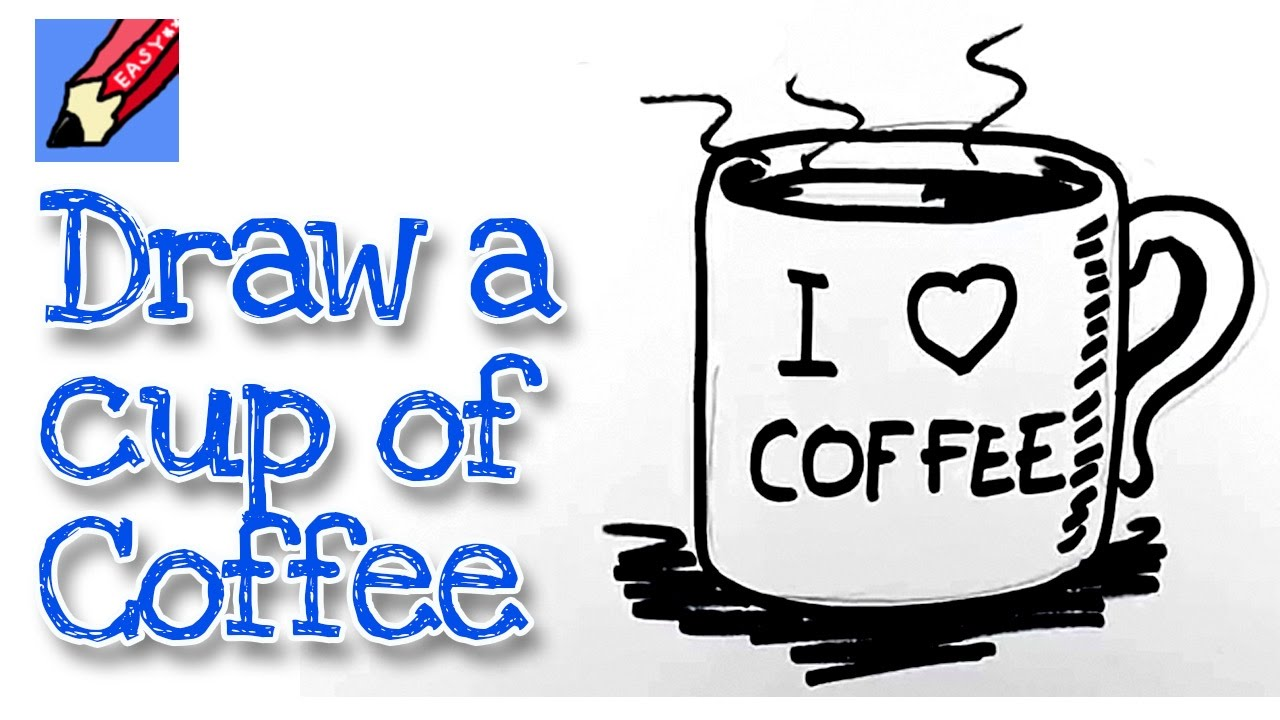 How To Draw A Mug Of Coffee Real Easy