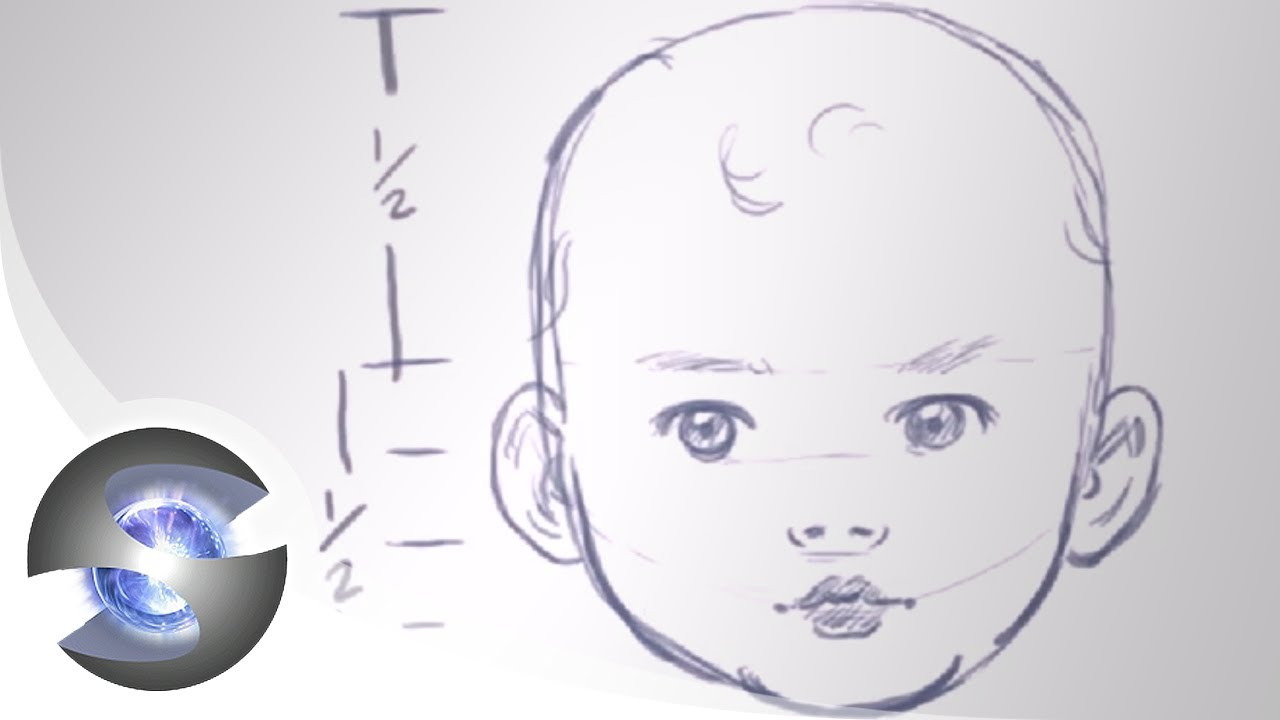 How To Draw A Baby Head