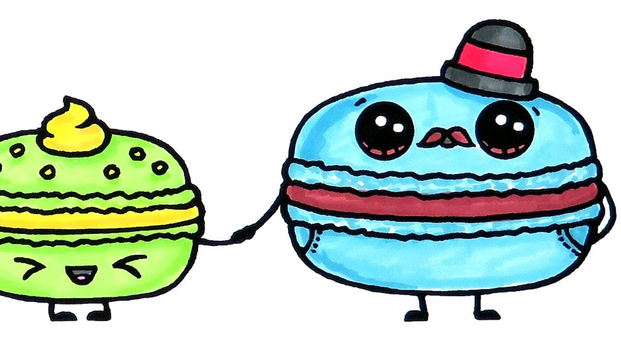 Yummy Macaron Coloring Pages For Kids