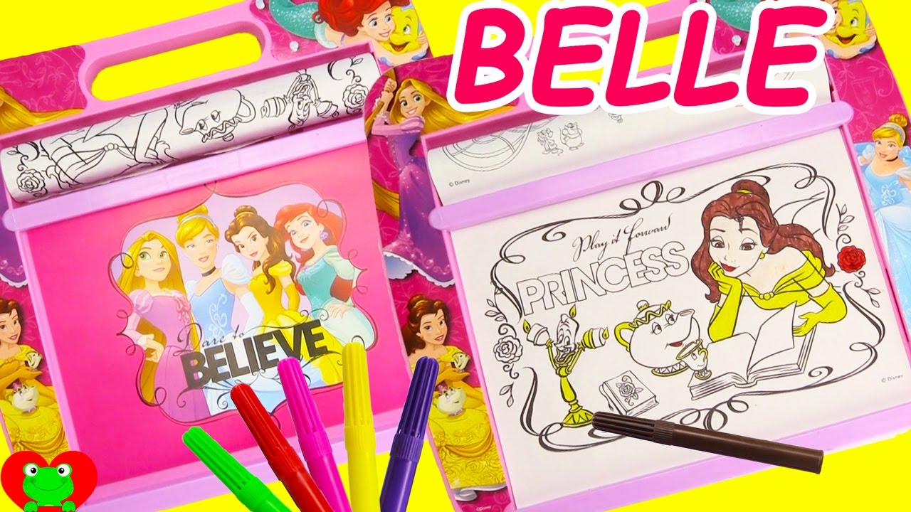 Disney Princess Coloring Pages On Rolling Art Desk And Surprises