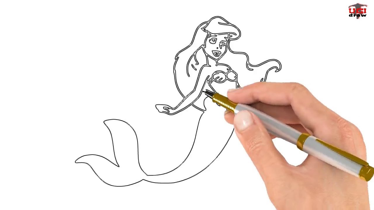How To Draw A Mermaid Easy Step By Step Drawing Tutorial For Kids