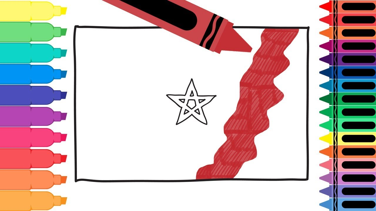 How To Draw Morocco Flag