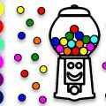 Gumball Machine Coloring Pages
