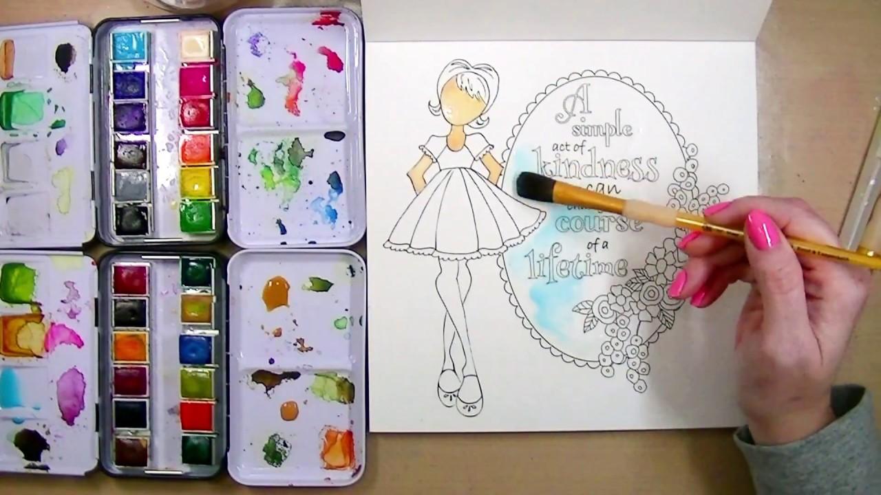 Watercolor Coloring Book! Prima Watercolor Confections
