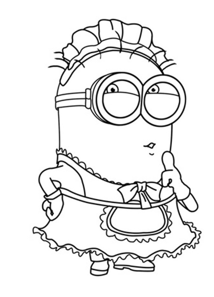Coloring Page Of A Minion