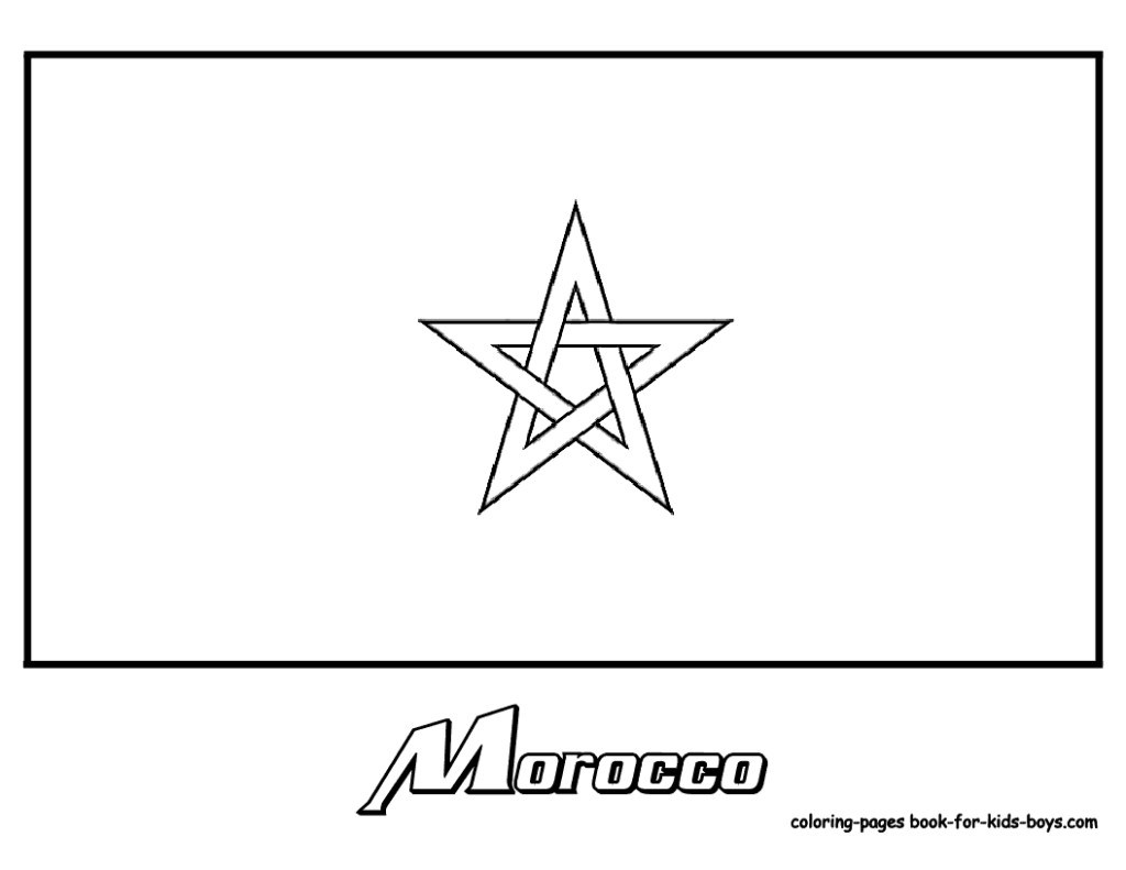 Morocco Flag Coloring Page