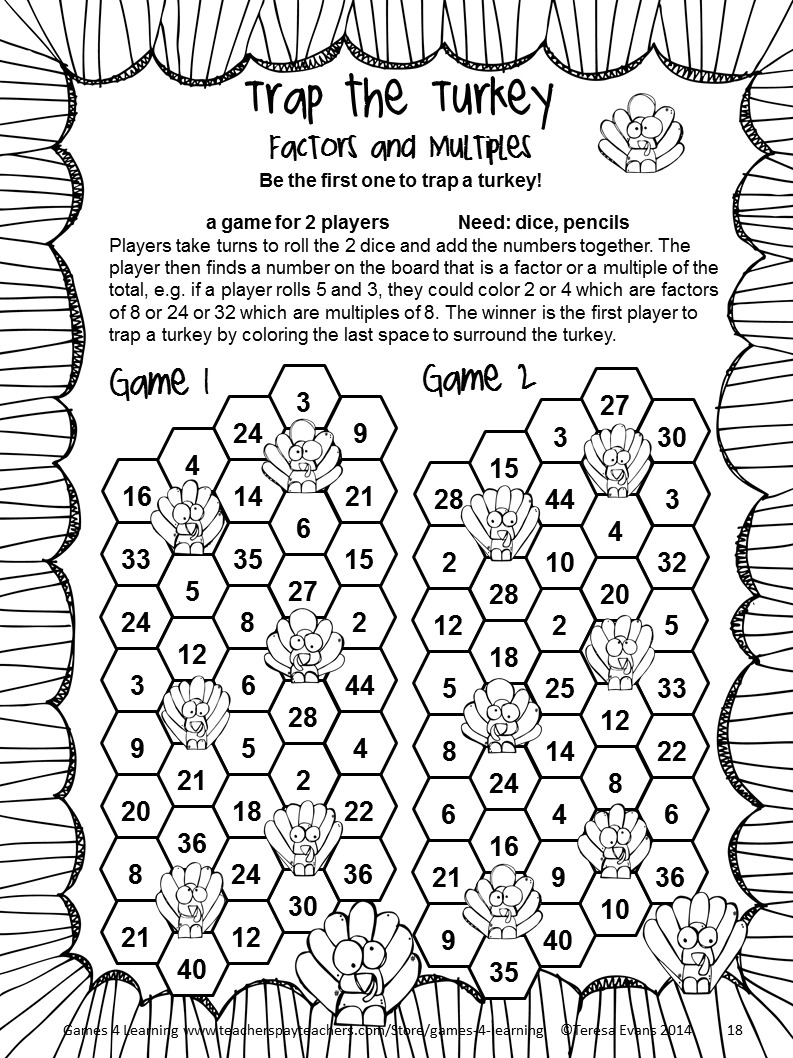 Multiplication Coloring Worksheets 4th Grade To Free