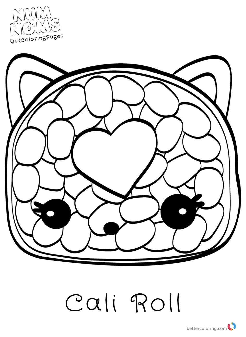 Num Nom Coloring Pages Black And White – Ambok