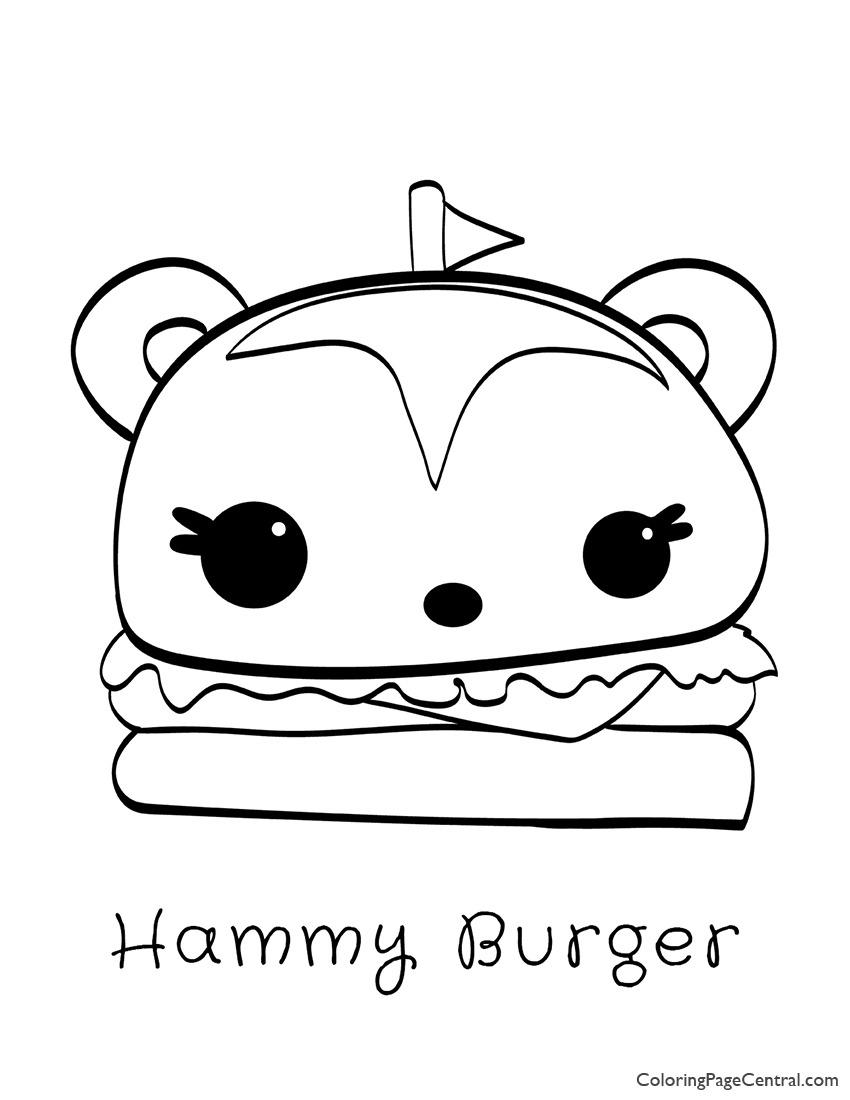 Num Noms – Hammy Burger Coloring Page