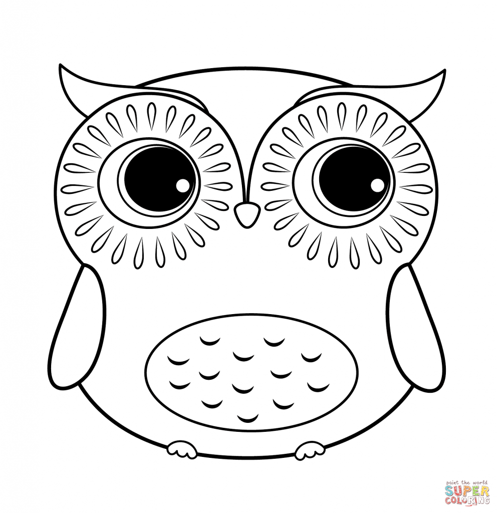 Owl Coloring Pages  5997