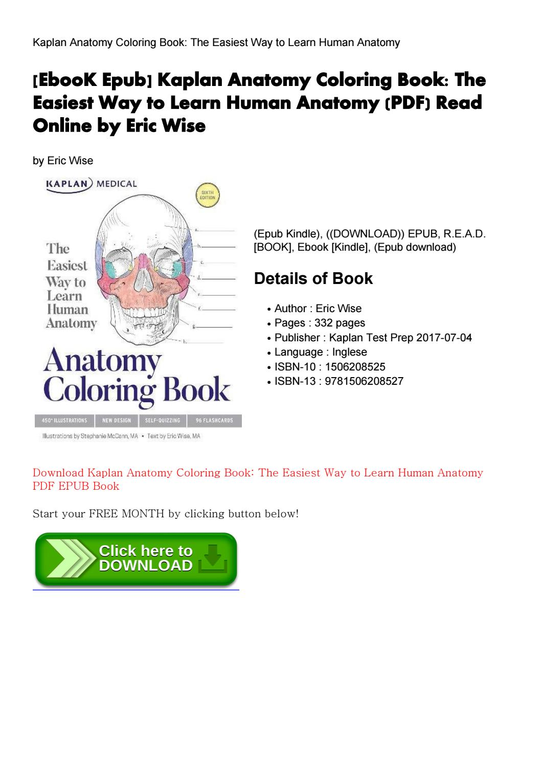 Ebook Epub] Kaplan Anatomy Coloring Book  The By Charismcgrath33